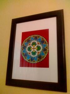 Mandala Framed